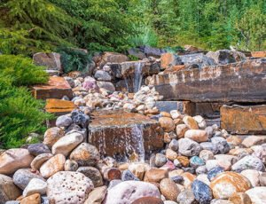 Custom Water Feature Canmore Landscaping Services