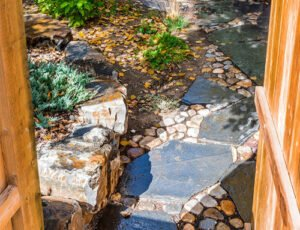 Canmore Stone walkway landscaping